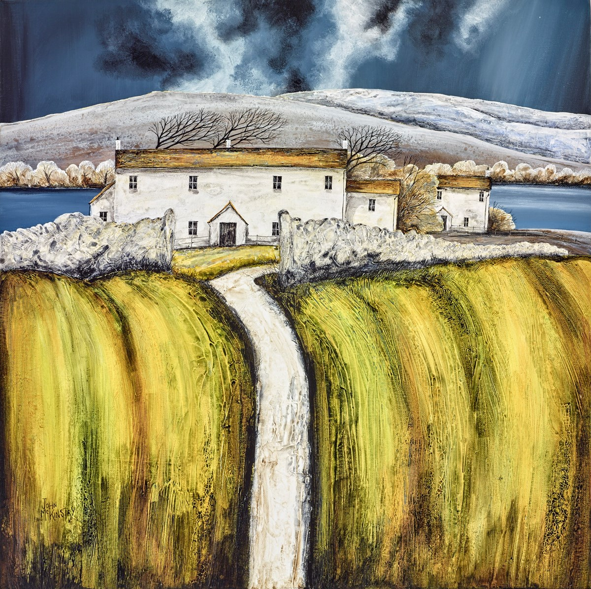 Storm on the Moor by john mckinstry -  sized 24x24 inches. Available from Whitewall Galleries